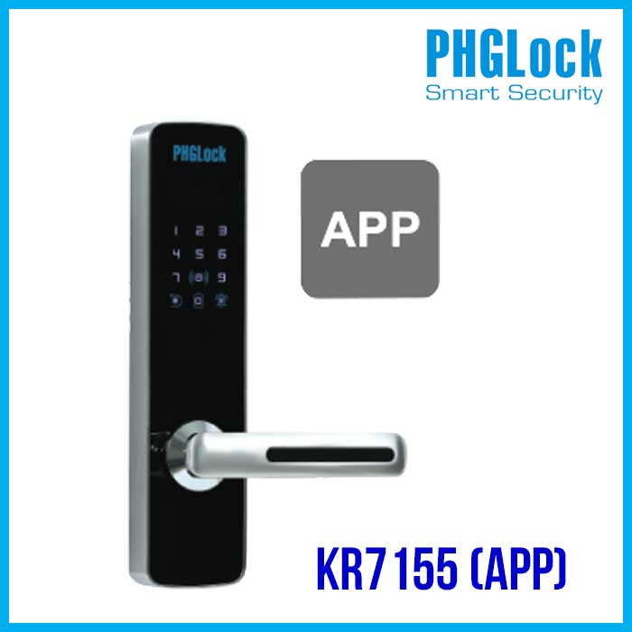 khóa cửa cho căn hộ, chung cư Phglock KR7155 APP Bán Khóa cửa cho căn hộ, nhà phố PHGLOCK KR7155 (App