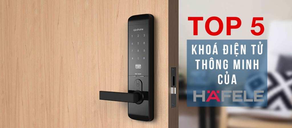 Khóa điện tử vân tay Hafele Khóa điện tử HÄFELE EL9000 được xuất tại nhà máy Hafele (thương hiệu Đức) tại Hàn Quốc. Khóa thích hợp cho cửa gỗ có độ dày 40-50mm, đố cửa tối thiểu là