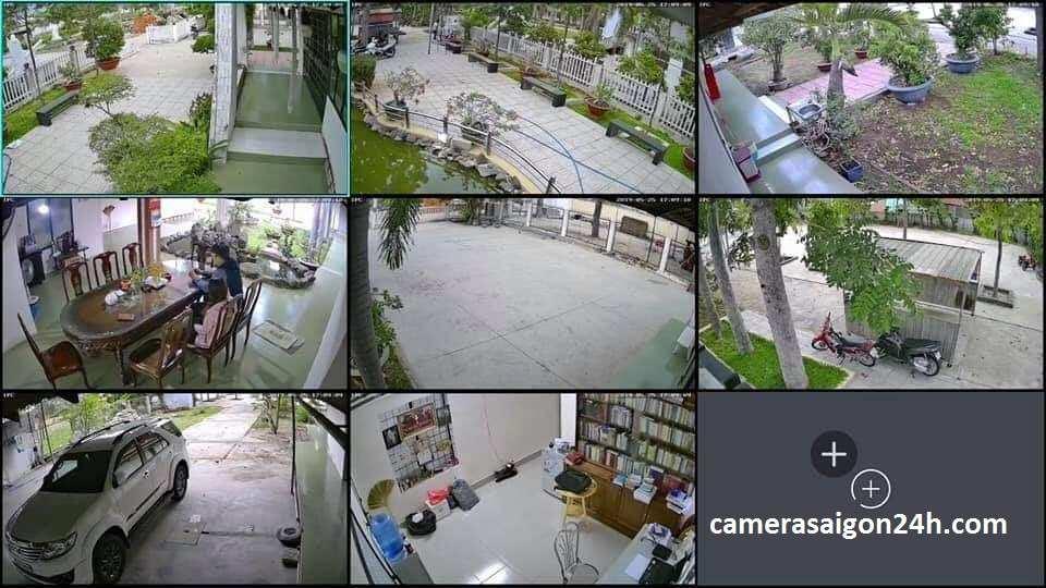 lắp camera quan sát báo động chống trộm cho gia đình