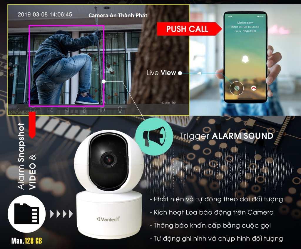 lắp camera wifi giá rẻ chính hãng vantech