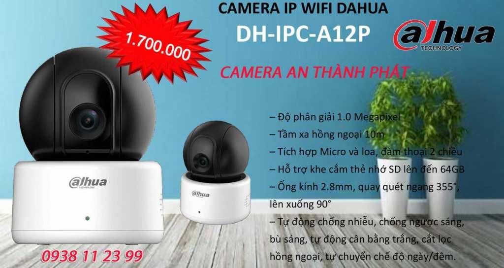 lắp camera wifi dahua A12P giá rẻ
