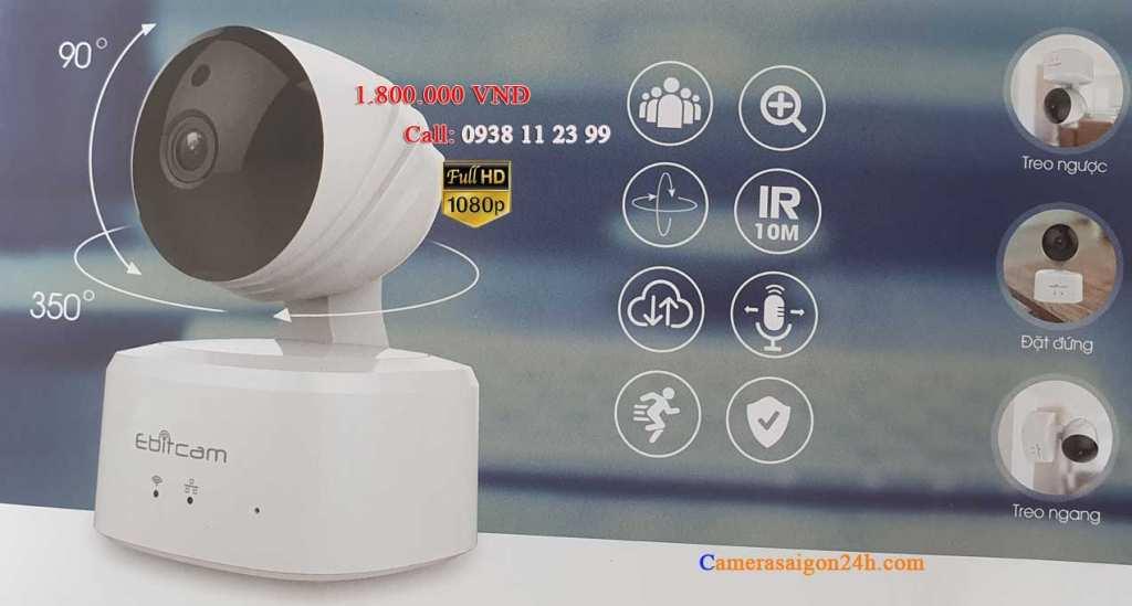 lắp camera giám sát Ebitcam giá rẻ xoay 360 E2