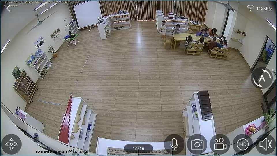lắp camera giám sát fish eye hikvision giám sát 180 độ