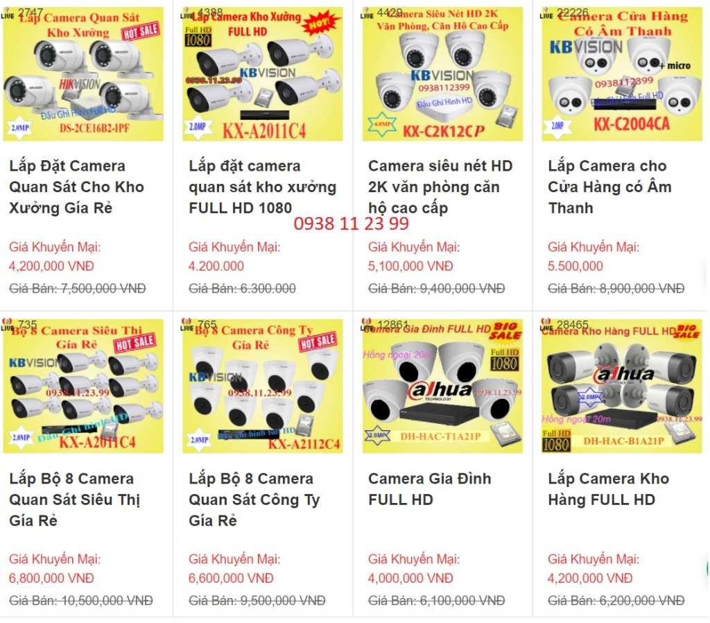 Bảng báo giá lắp đặt camera quan sát ở Bình Thuận Phan Thiết, camera quan sát chính hãng