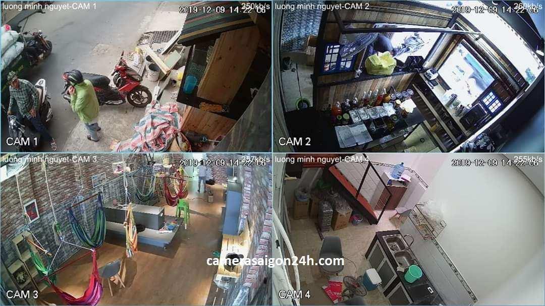 lắp camera giám sát quán coffee cửa hàng trà sữa