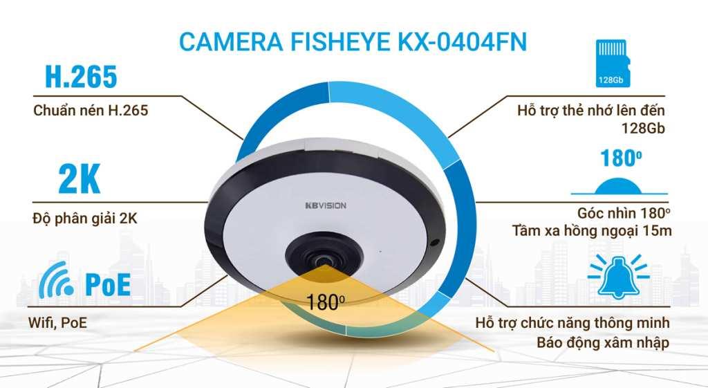 lắp camera wifi kbvision giám sát toàn cảnh chất lượng