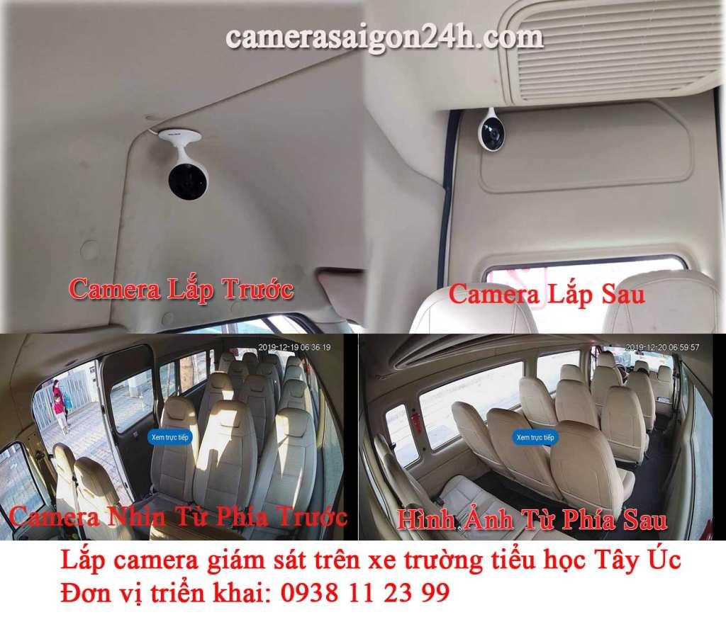 lắp đặt camera giám sát trên xe trường tiểu học tây úc