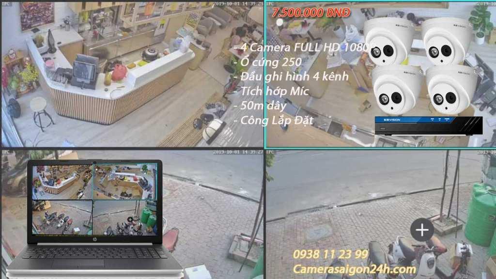 lắp đặt camera tích hợp micro