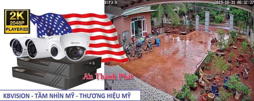 Lắp camera kbvision USA chất lượng Ultra 2k sắt nét