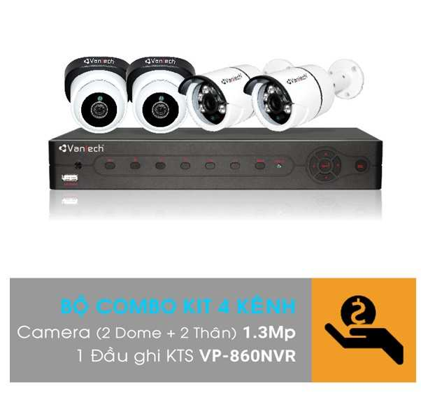 Bo- Kit -camera -IP- VANTECH- VP-K12NVR