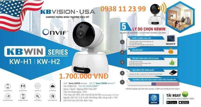 lắp camera wifi kbvision h2 chất lượng