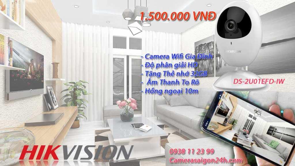 Lắp camera wifi hikvision cho gia đình