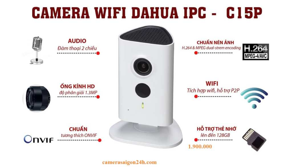 lắp camera wifi dahua ipc c15 cube