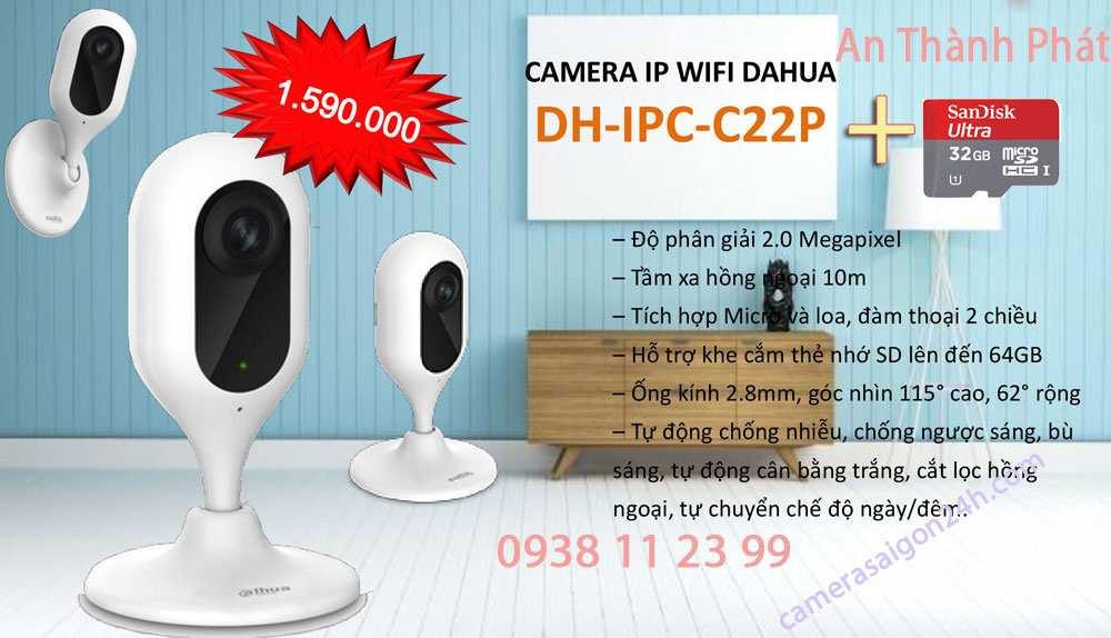 lắp camera wifi dahua giá rẻ camera giám sát ổn định