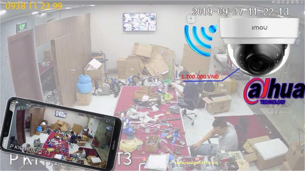 lắp camera wifi dahua up trần xem qua điện thoại