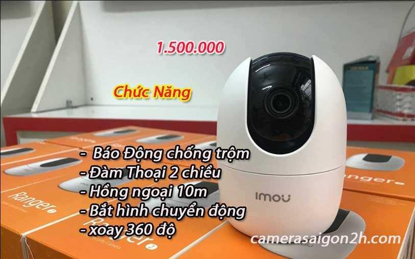 lắp camera wifi dahua xoay 360 giá rẻ