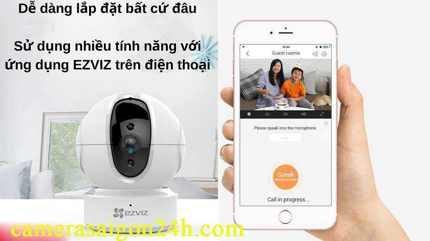 Bán camera Wifi EZVIZ C6N 1080P giá tốt chính hãng Camera C6N của EZVIZ được trang bị chức năng Smart IR, sử dụng công nghệ chiếu sáng hồng ngoại (IR) tiên tiến giúp thu được nhiều chi tiết hơn trong điều