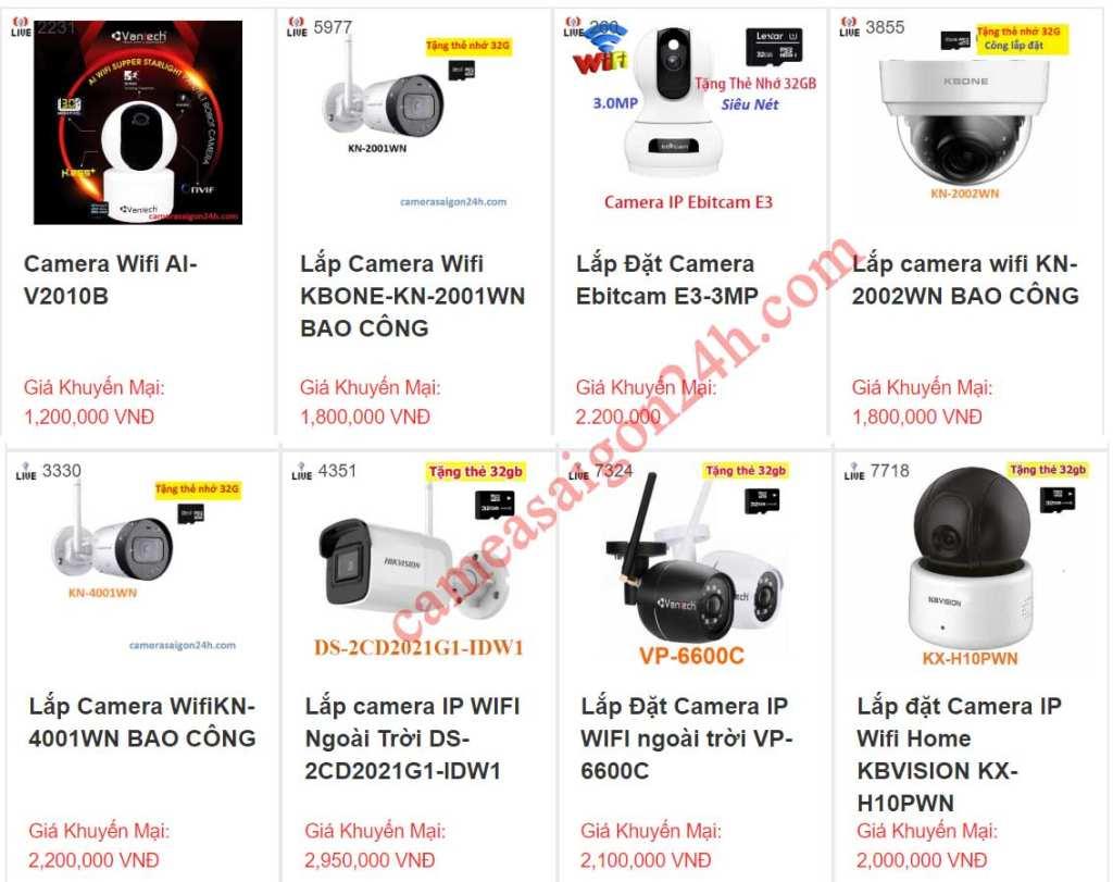 Lắp camera giám sát giá rẻ chất lượng dịch vụ lắp camera giám sát từ xa