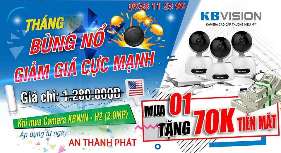 Lắp camera wifi giá rẻ kbvision giám sát từ xa
