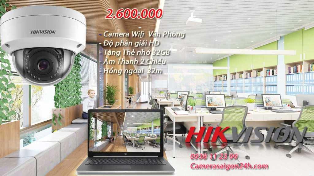 lắp camera wifi giá rẻ hikvision cho văn phòng