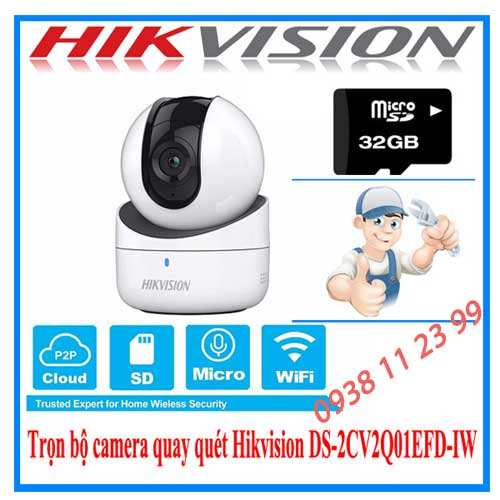 Lắp camera wifi hikvision xoayy 360 giá rẻ