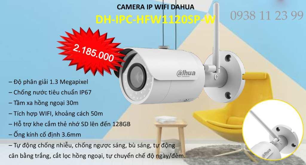 lắp camera wfi dahua ngoài trời giá rẻ chất lượng của Dahua