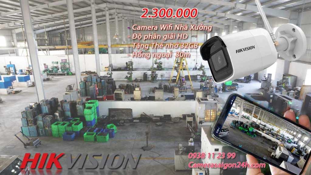 lắp camera wifi hikvision cho nhà xưởng giá rẻ