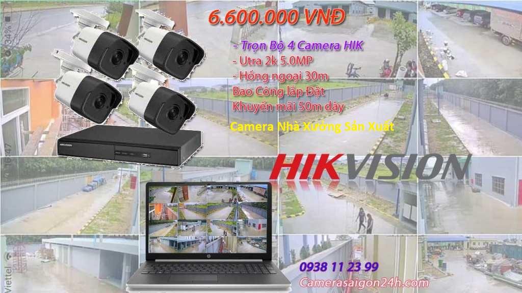 trọn bộ camera hikvision cho nhà xưởng chuyên nghiệp