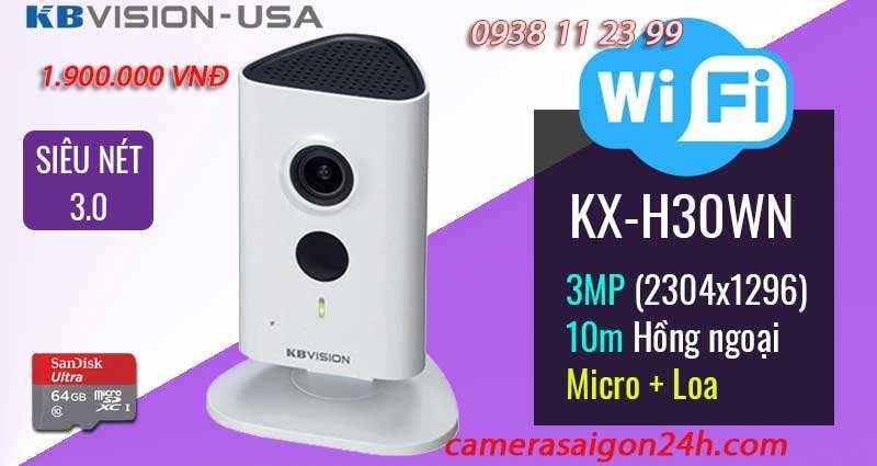 lắp camera kbvision wifi KX-h30WN giá rẻ