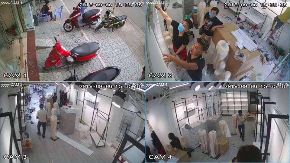 hình ảnh lắp camera quan sát văn phòng camera dahua