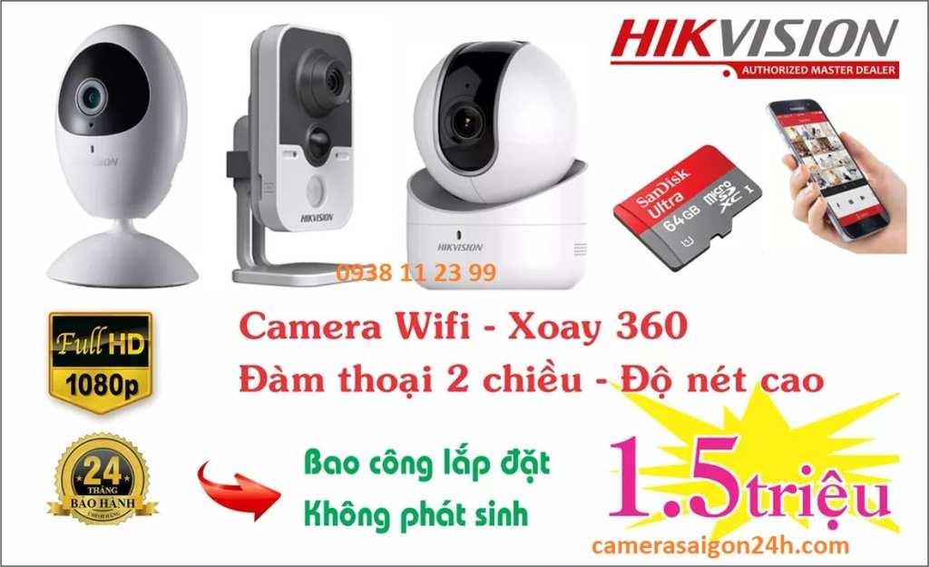 lắp đặt camera wifi hik gia đình giá rẻ