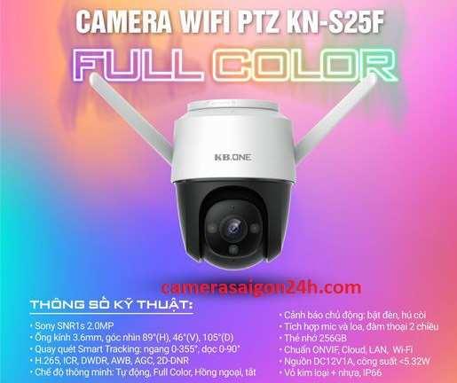 KBONE KN-S25F là camera IP mới nhất dùng bảo vệ trước cổng an ninh khu phố