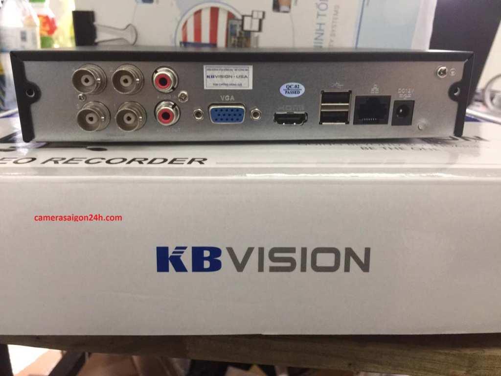 mạt sau đầu ghi hình camera kbvision KX-7104SD6