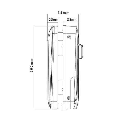 Khóa cửa kính vân tay-điều khiển ZKTeco GL300