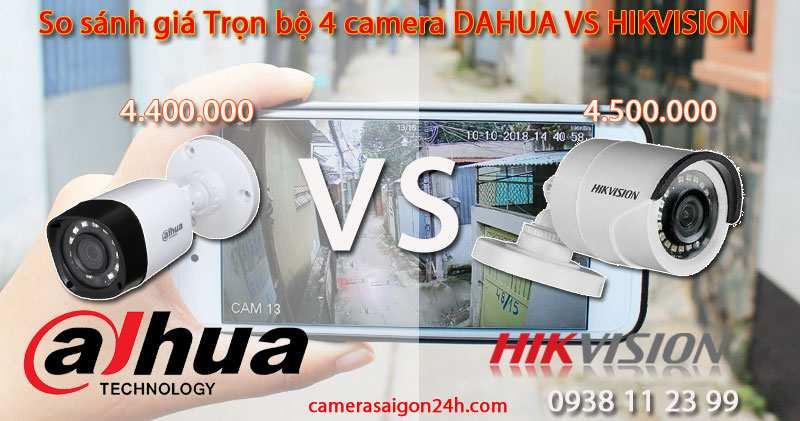 lắp camera dahua giá rẻ và caamera hikvision giá rẻ