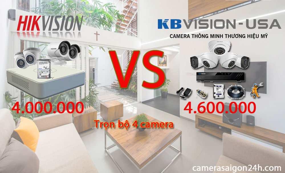 lắp camera kbvision giá rẻ chất lượng