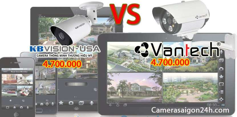 so sánh camera kbvision với camera vantech