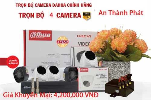 trọn bộ 4 camera quan sát Dahua giá rẻ chất lượng