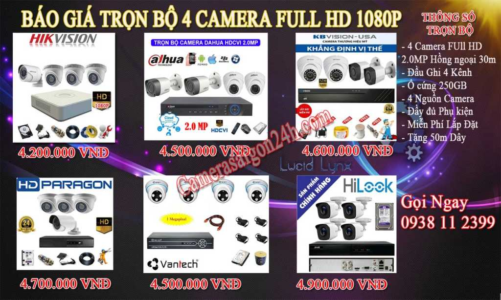 Lắp camera quan sát giá rẻ trọn bộ