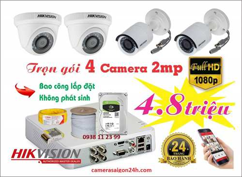 lắp camera giá rẻ gia đình HIKVISION FULL HD
