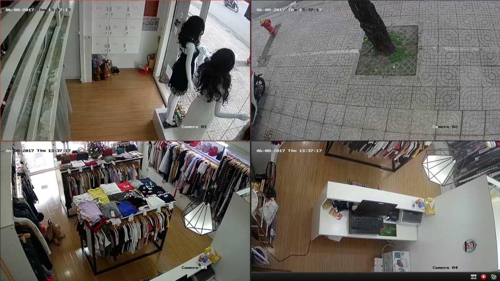 lắp đặt camera quan sát hikvision cho cửa hàng