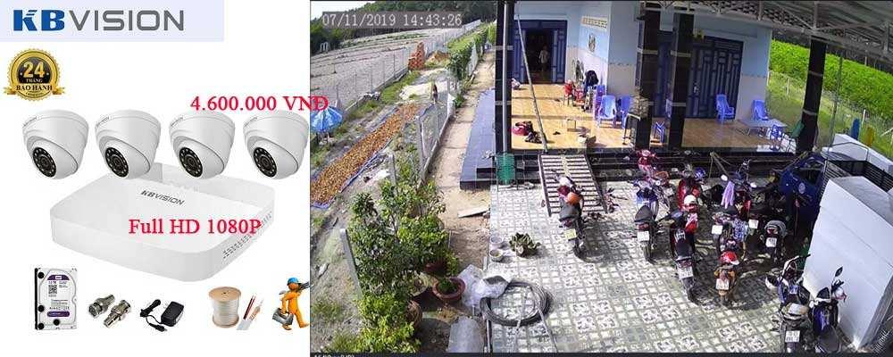 Lắp đặt camera KBVISION FULL HD trọn bộ 4 camera giám sát