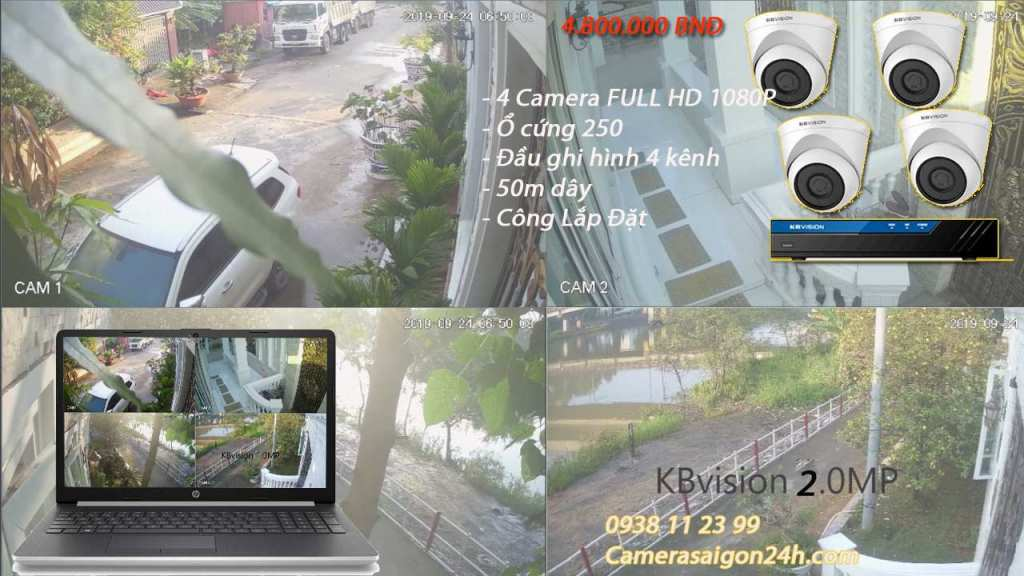 lắp đặt camera giám sát gia đình giá rẻ, camera dome hồng ngoại 2.0MP
