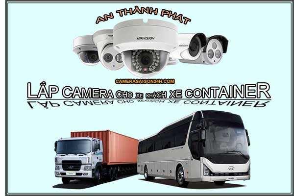 lắp camera trên xe khách xe container