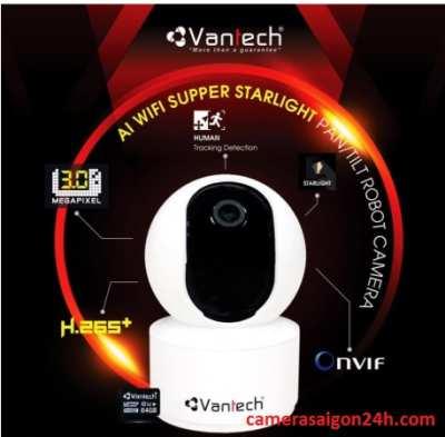 Lắp camera wifi AL thông minh Vantech camera chất lượng