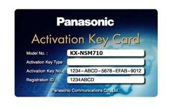Activation key mở rộng tổng đài IP PANASONIC KX-NSM710, PANASONIC KX-NSM710, KX-NSM710