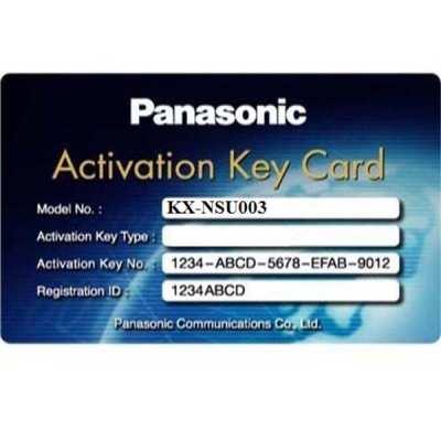 Activation key mở rộng tổng đài PANASONIC KX-NSU003, PANASONIC KX-NSU003, KX-NSU003
