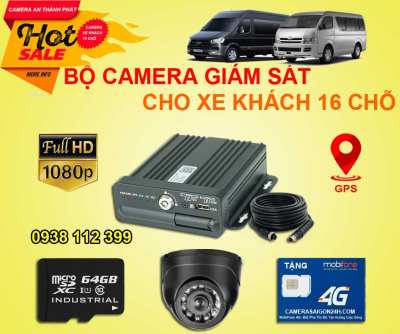 Lắp camera giám sát cho ô tô, xe khách 16 chỗ với chất lượng tốt, an toàn. Camera chất lượng với hình ảnh FULL HD, chống rung lắc, giảm nhiễu,bắt được chuyển động. Đầu ghi camera giám sát cho xe khách 16 chỗ được tích hợp chức năng  định vị gps chúng ta có thể biết được xe đã đi tới nơi nào. Công ty An Thành Phát luôn cung cấp cho các quý khách hàng những thiết bị chất lượng cao, thiết bị hợp chuẩn nghị định 10/2020/NĐ-CP và thông tư.