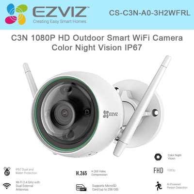 Camera wifi  quay xoay thông minh EZVIZ CS-C3N-A0-3H2WFRL,EZVIZ CS-C3N-A0-3H2WFRL,C3N-A0-3H2WFRL,C3N