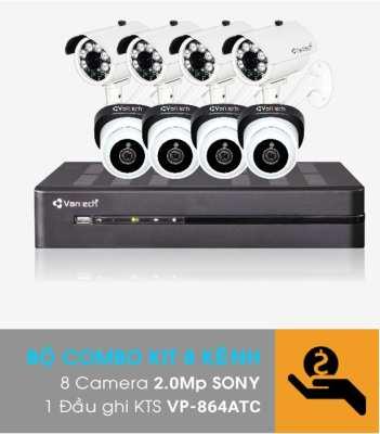 VP-K811ATC,Bộ Kit camera VANTECH VP-K811ATC,VANTECH VP-K811ATC,Combo KIT Vantech VP-K811ATC